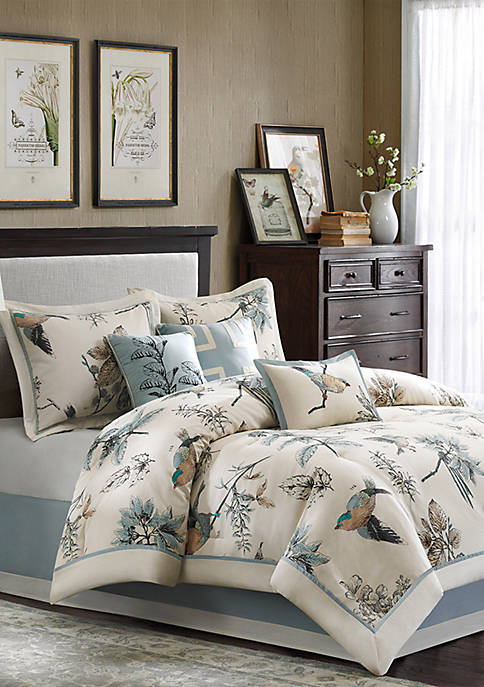 Quincy 7-Piece Khaki Comforter Set