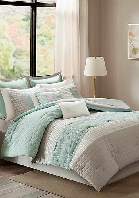 Madison Park Roslynn 8-Piece Aqua Comforter Set