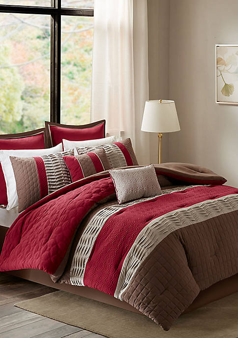 Roslynn 8-Piece Red Comforter Set