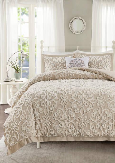 HipStyle Sabrina 4-Piece Chenille Pink Comforter Set