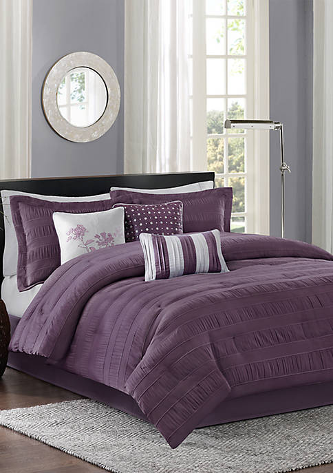 Madison Park Hampton 7-Piece Plum Comforter Set