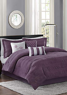 Hampton 7-Piece Plum Comforter Set