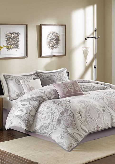 Samir 7-Piece Purple Comforter Set