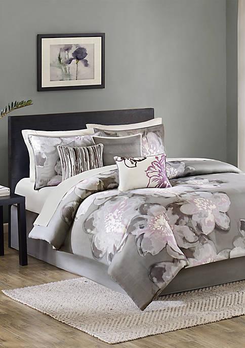 Madison Park Serena 7-Piece Grey Comforter Set