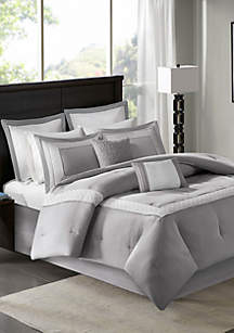 Stratford\t8-Piece Grey Comforter Set