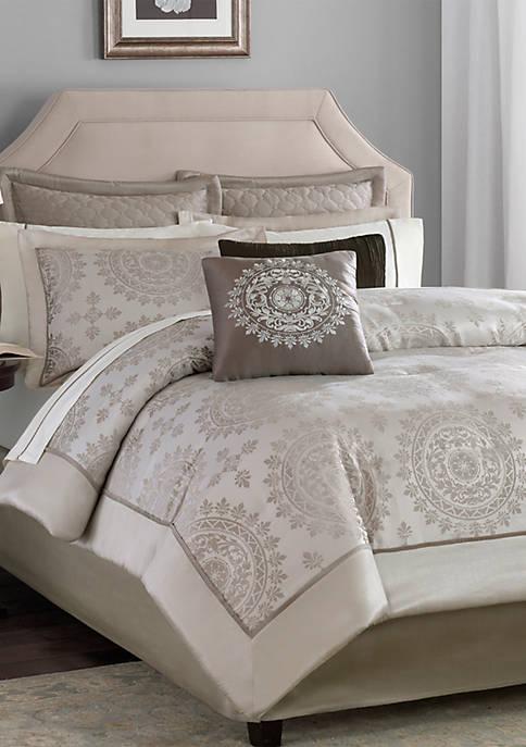 Madison Park Tiburon Tan 12-Piece California King Comforter