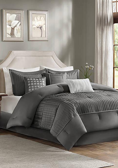 Trinity 7-Piece Grey Comforter Set