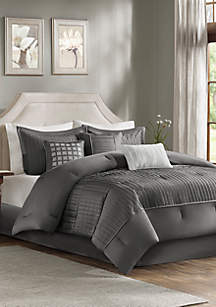 Madison Park Trinity 7-Piece Grey Comforter Set