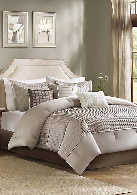 Trinity 7-Piece Taupe Comforter Set