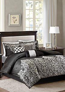 Vanessa\t7-Piece Black Comforter Set