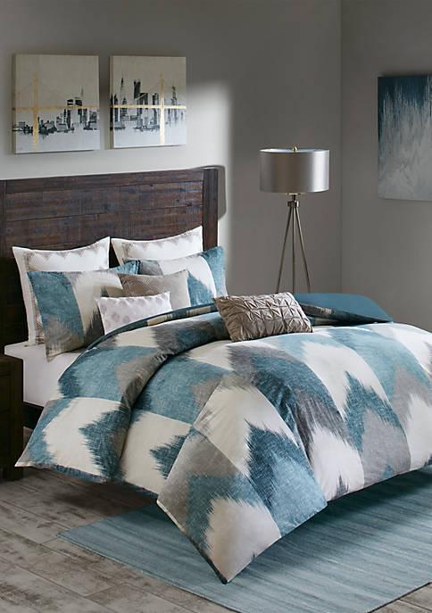 INK + IVY® Alpine 3-Piece Aqua Comforter Mini