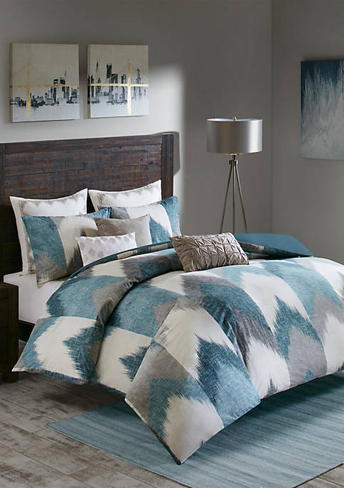 INK + IVY® Alpine 3-Piece Aqua Duvet Cover