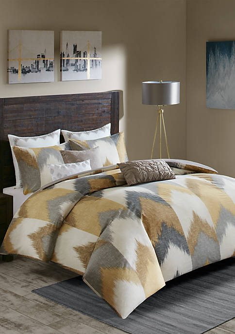 INK + IVY® Alpine 3-Piece Yellow Duvet Cover