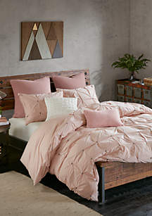 Masie 3 Piece Cotton Blush Comforter Mini Set