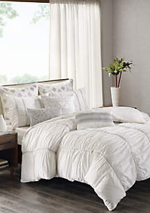 Reese 3 Piece White Comforter Mini Set