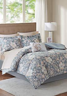 Madison Park Essentials Lily Complete Comforter Set - Grey