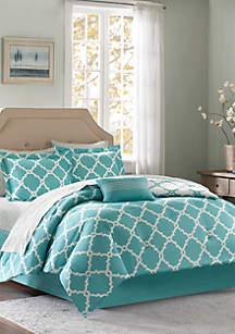 Madison Park Essentials Merritt Reversible Complete Comforter Set - Aqua