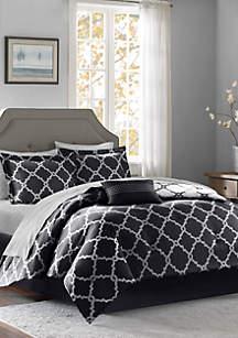 Madison Park Essentials Merritt Reversible Complete Comforter Set - Black