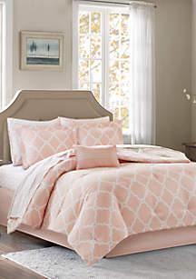 Madison Park Essentials Merritt Reversible Complete Comforter Set - Blush