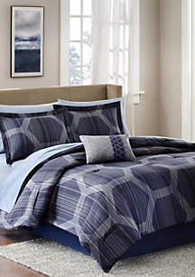Madison Park Essentials Rincon Complete Comforter Set - Blue