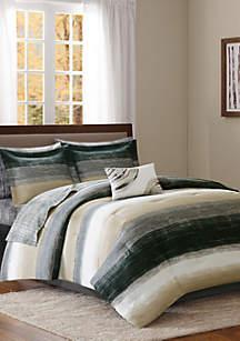 Madison Park Essentials Saben Complete Comforter Set - Taupe