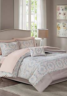 Madison Park Essentials Voss Complete Comforter Set - Blush