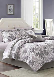Madison Park Essentials Shelby Complete Comforter Set - Grey
