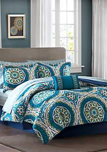 Madison Park Essentials Serenity Complete Comforter Set - Blue