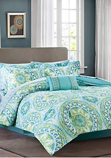 Madison Park Essentials Serenity Complete Comforter Set - Aqua