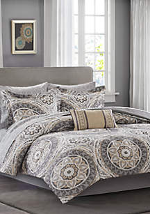 Madison Park Essentials Serenity Complete Comforter Set - Taupe