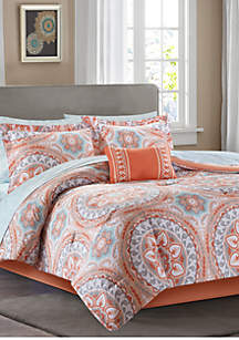 Madison Park Essentials Serenity Complete Comforter Set - Coral
