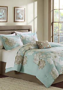 Madison Park Essentials Avalon Complete Comforter Set - Blue