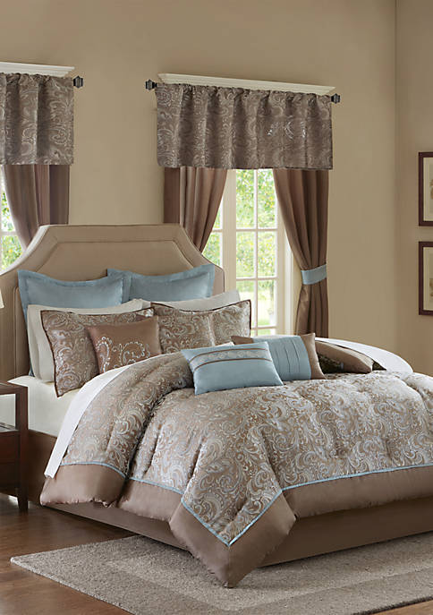 Madison Park Essentials Brystol 24-Piece Complete Comforter Set
