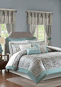 Madison Park Madison Park Essentials Brystol 24-Piece Complete Comforter Set - Teal