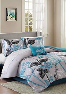 Madison Park Essentials Claremont Reversible Bed In A Bag Set - Aqua