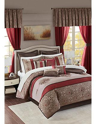 Bedroom Comforter Set 24Pc Room In A Bag Master Guest Dorm Sheets Curtains