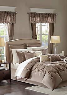 Madison Park Essentials Joella 24-Piece Complete Comforter Set - Taupe