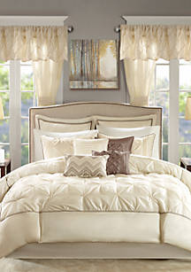 Madison Park Essentials Joella 24 Piece Bed In A Bag Set Ivory