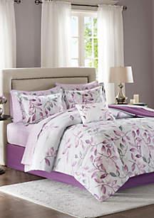 Madison Park Essentials Lafael Complete Comforter Set - Purple