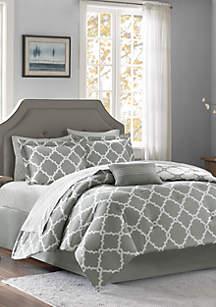 Madison Park Essentials Merritt Reversible Complete Comforter Set - Grey
