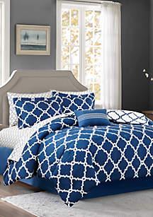 Madison Park Essentials Merritt Reversible Complete Comforter Set - Navy