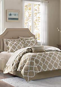 Madison Park Essentials Merritt Reversible Complete Comforter Set - Taupe