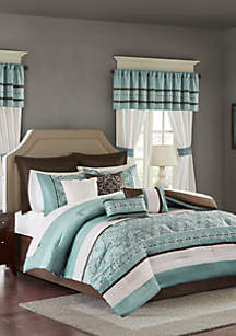 Madison Park Essentials Jelena 24-Piece Complete Comforter Set - Seafoam