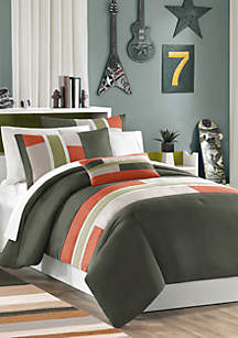 Pipeline Comforter Set - Olive