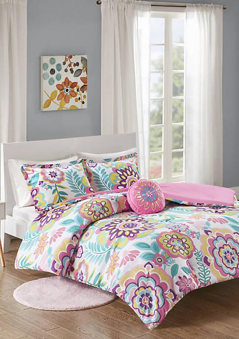 MiZone Camille Floral Comforter Set