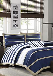 Ashton Comforter Set - Navy
