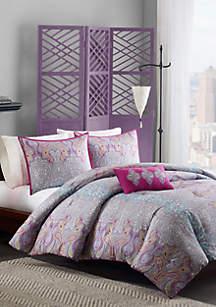 MiZone Keisha Comforter Set - Gray