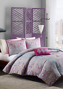 Keisha Comforter Set - Gray