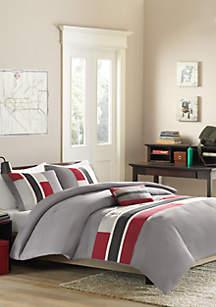 Pipeline Comforter Set - Red