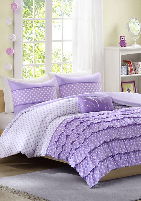 MiZone Morgan Reversible Comforter Set Purple
